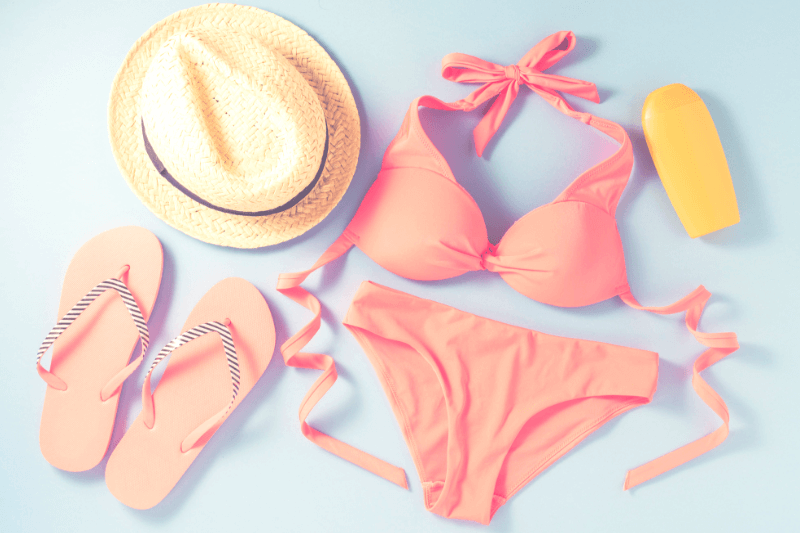 Bathing suites, shorts and sandals are a must-have for a beach vacation