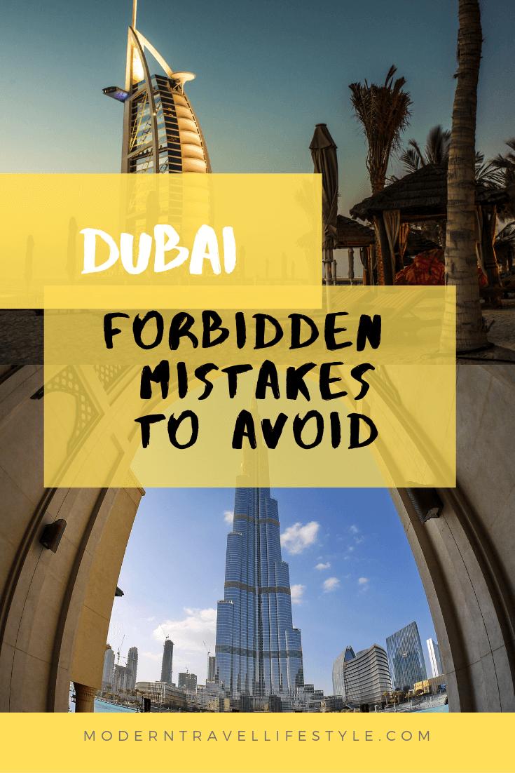 Forbidden mistakes to avoid while visiting Dubai