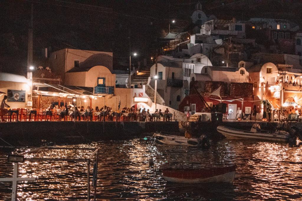 Santorini Catamaran Tour | Cruising with Sunset Oia | Ammoudi Harbor
