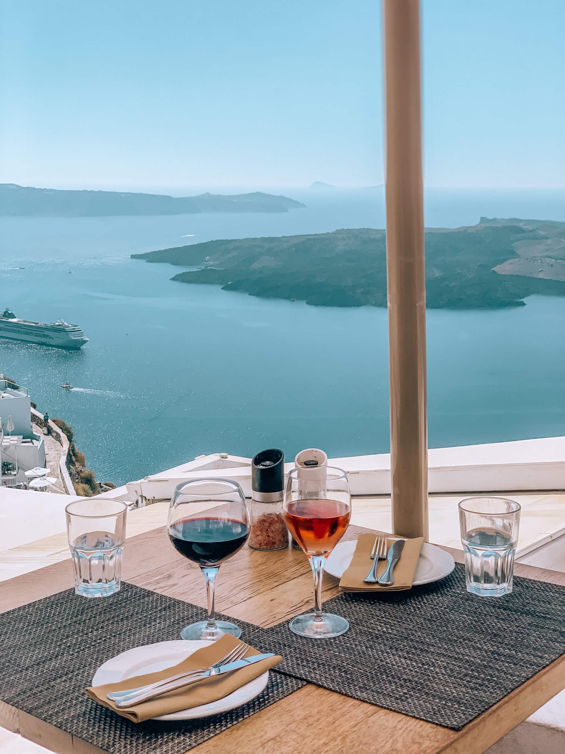 Santorini Top Best Restaurants | View from Vanilla Restaurant