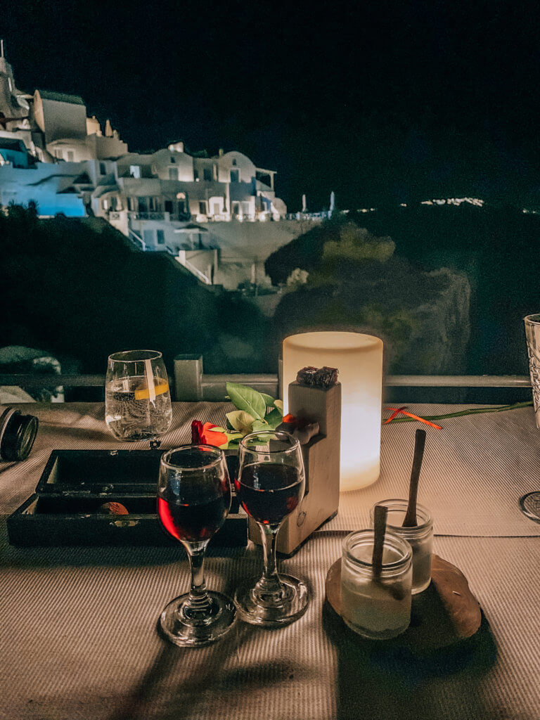 Best Restaurants in Oia Santorini | Wine & Dessert