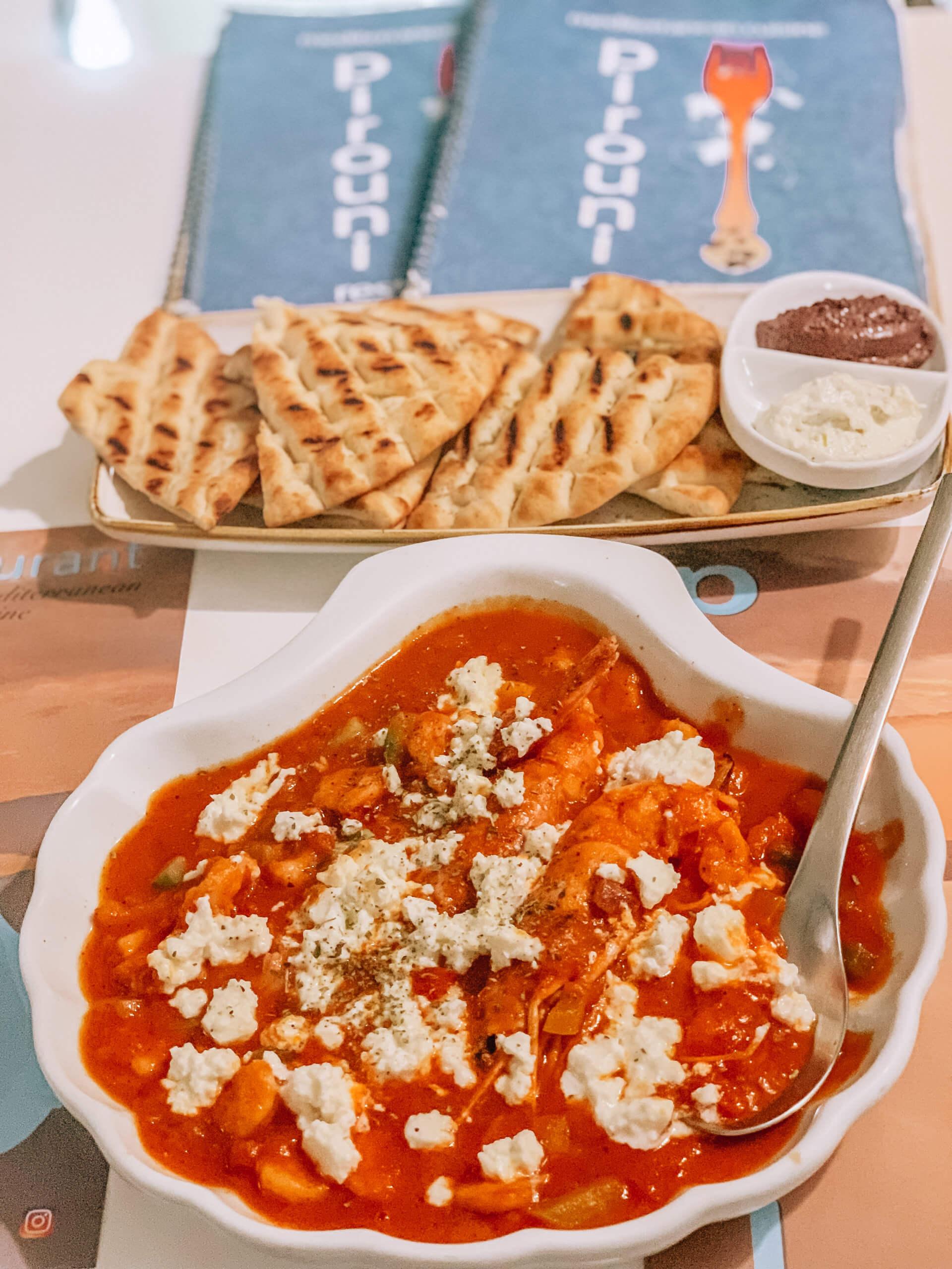 Santorini Top Best Restaurants | Pirouni Restaurant Appetizer