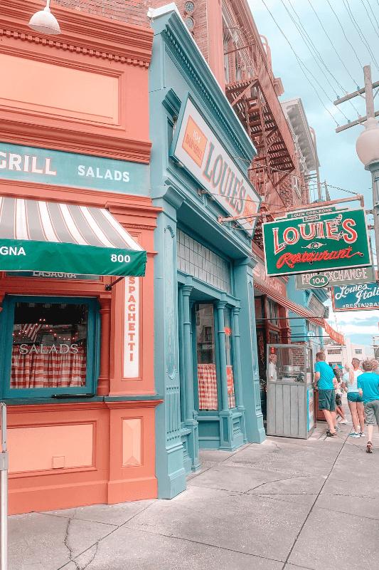 Louies Restaurant at Universal Studios